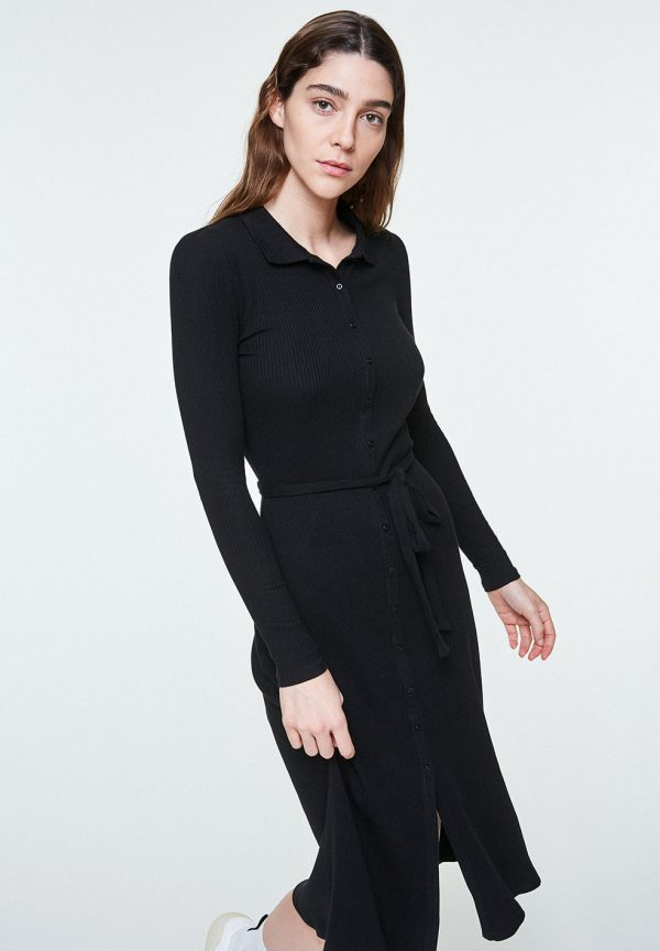 Black polo dress ARMEDANGELS