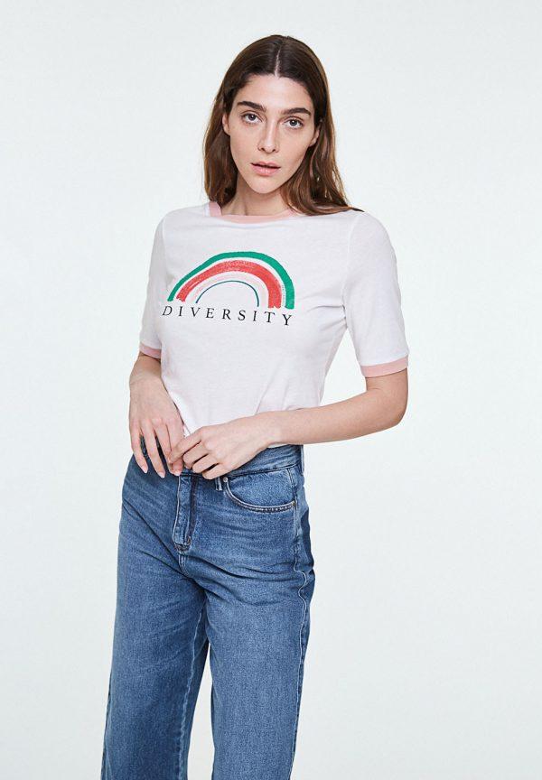 T-shirt rainbow diversity ARMEDANGELS