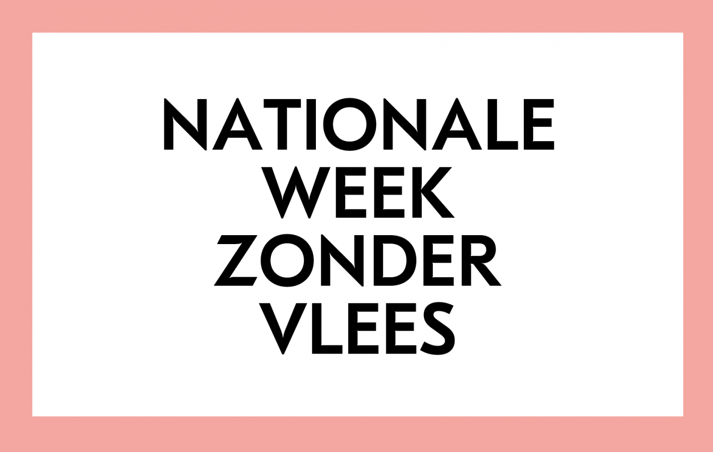 nationale week zonder vlees