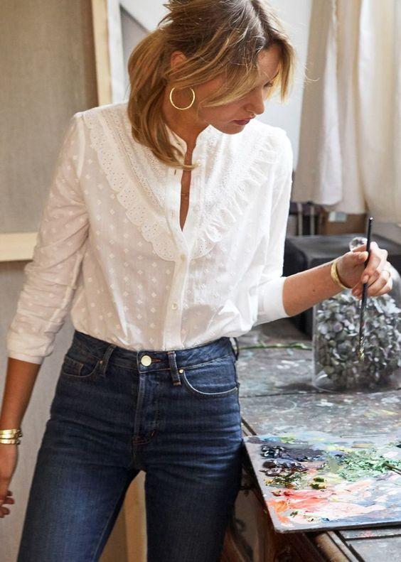 Witte blouse met skinny jeans | Kerstoutfits met items die je al hebt | Good For