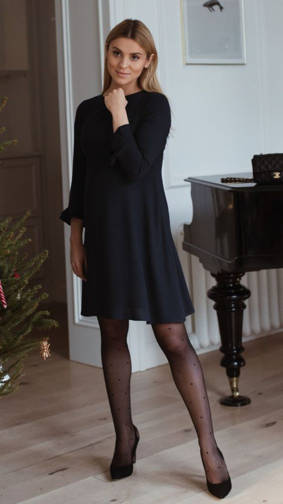 A-lijn zwart jurkje | Kerstoutfits met items die je al hebt | Good For